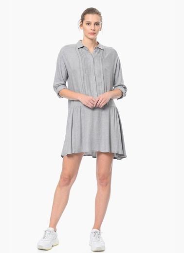NetWork Gömlek Elbise Gri